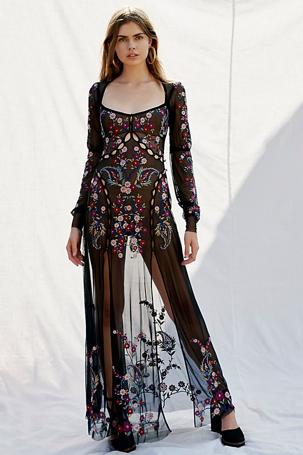 Slide View 1: Ester Embroidery Maxi Dress