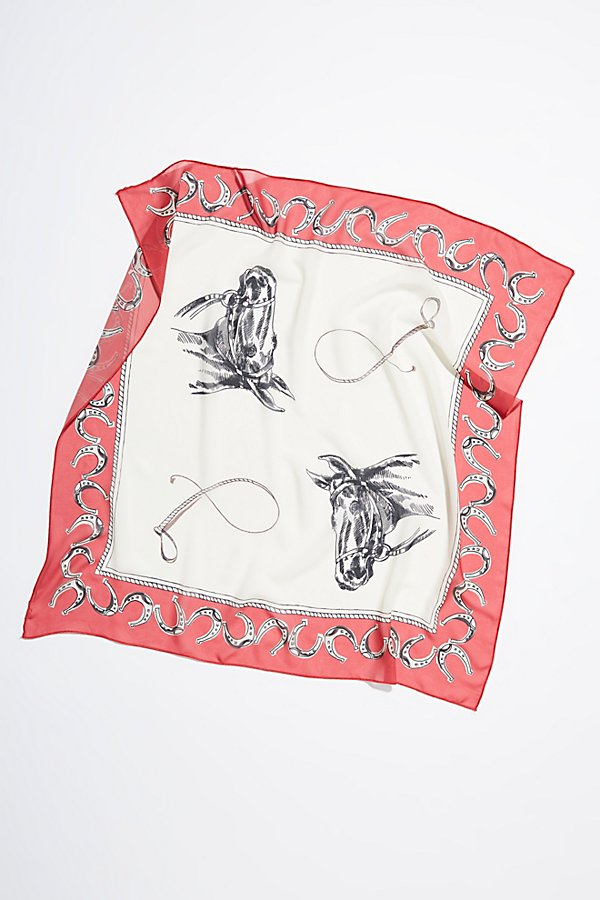 Slide View 4: Galloway Silk Print Scarf