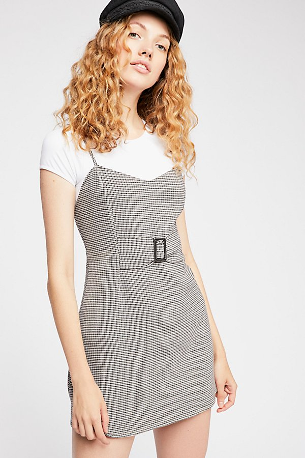 Slide View 3: My Girl Houndstooth Mini Dress