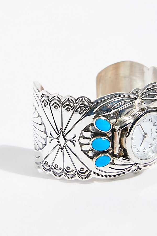 Slide View 3: Turquoise Cuff Watch