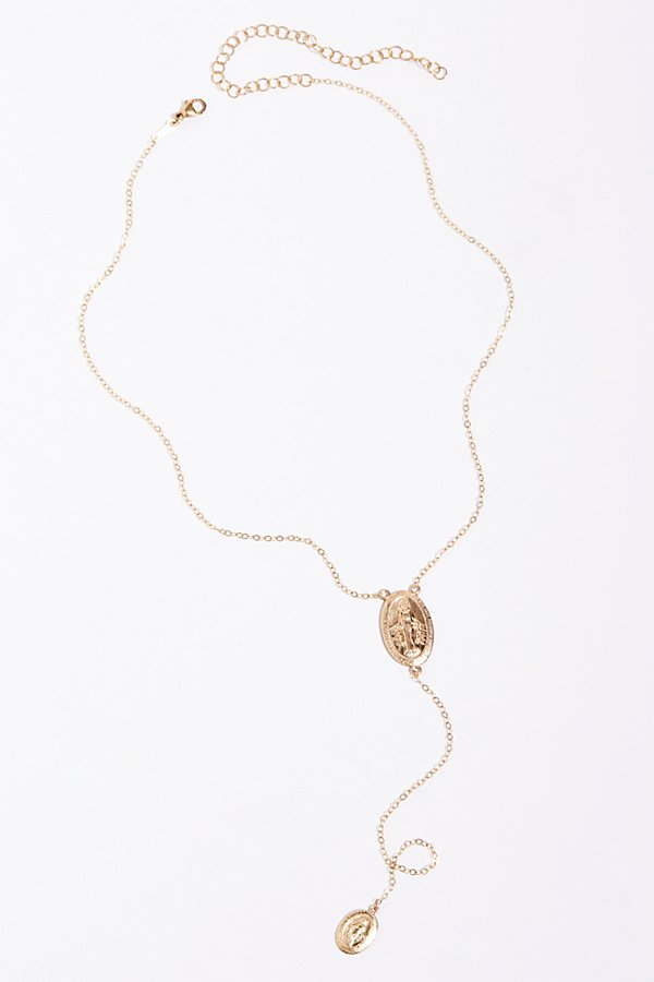 Slide View 3: Rosary Drop Lariat Necklace