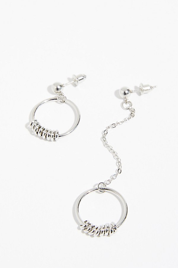 Slide View 2: Asymmetrical Hoop Earrings