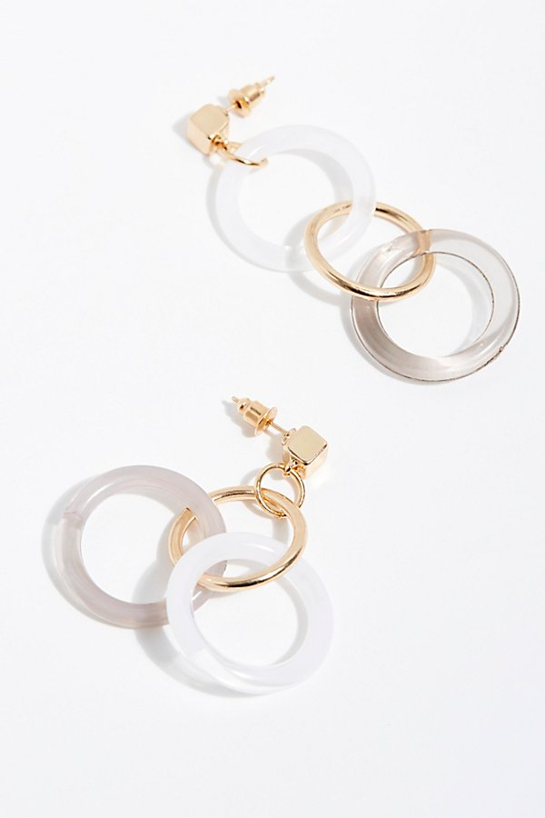 Slide View 2: Asymmetrical Resin Hoop Earrings