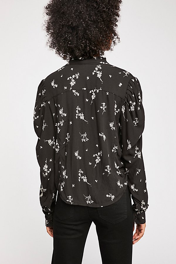Slide View 3: Falling Petals Buttondown Top