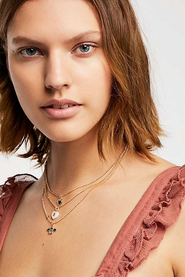 Slide View 1: Sweetheart Layering Necklace