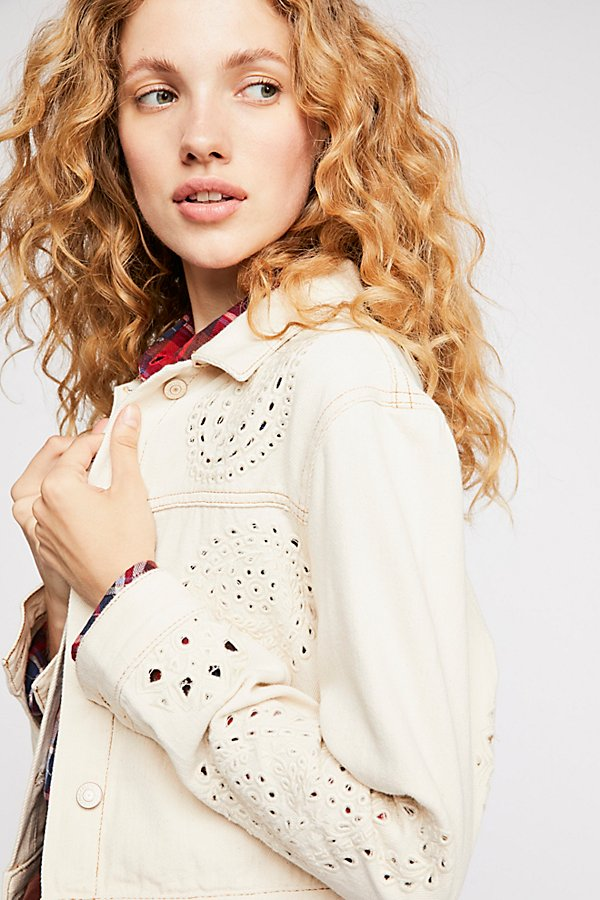 Slide View 1: Eyelet Cutout Jacket