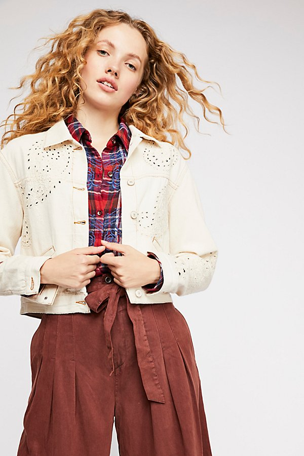 Slide View 3: Eyelet Cutout Jacket