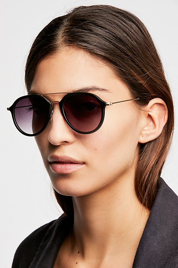 Slide View 1: Rhodes Matte Aviator Sunglasses
