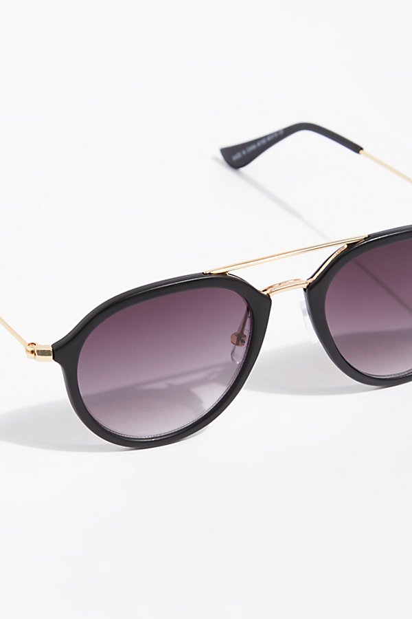 Slide View 3: Rhodes Matte Aviator Sunglasses