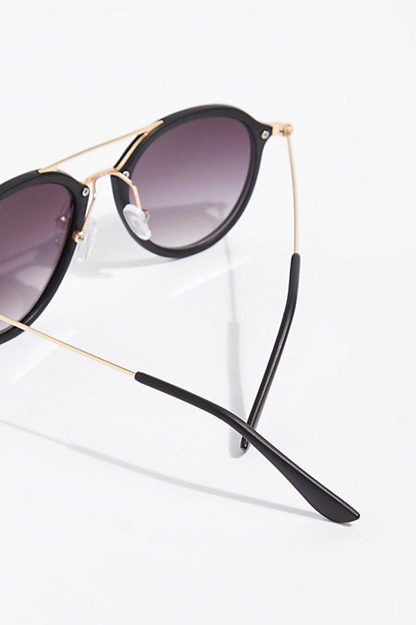 Slide View 4: Rhodes Matte Aviator Sunglasses