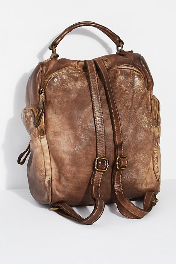 Slide View 3: Sassari Leather Backpack