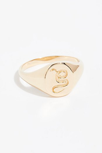 14k Animal Spirit Signet Ring