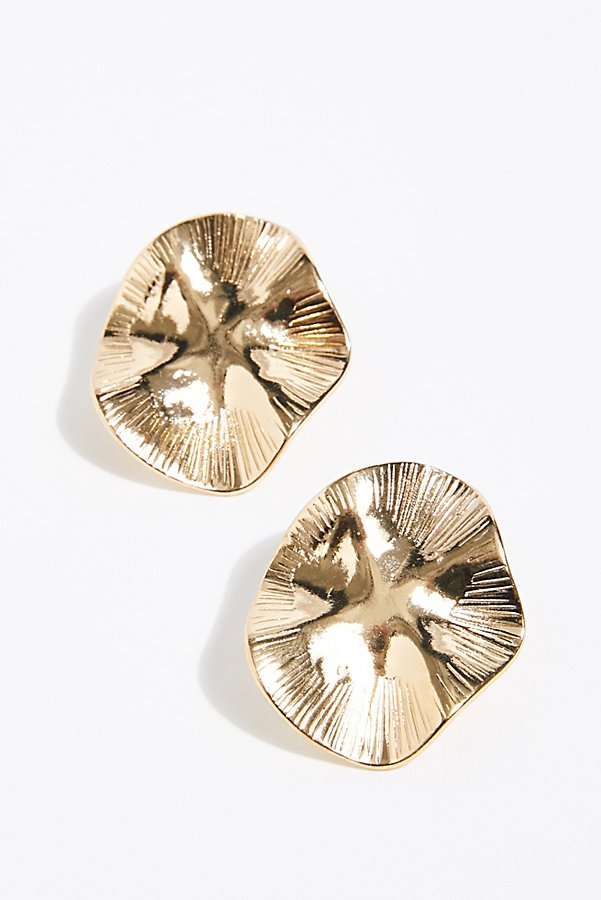 Slide View 2: Waves Oversized Stud Earrings