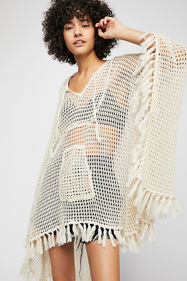 Slide View 1: Sand And Sea Crochet Poncho