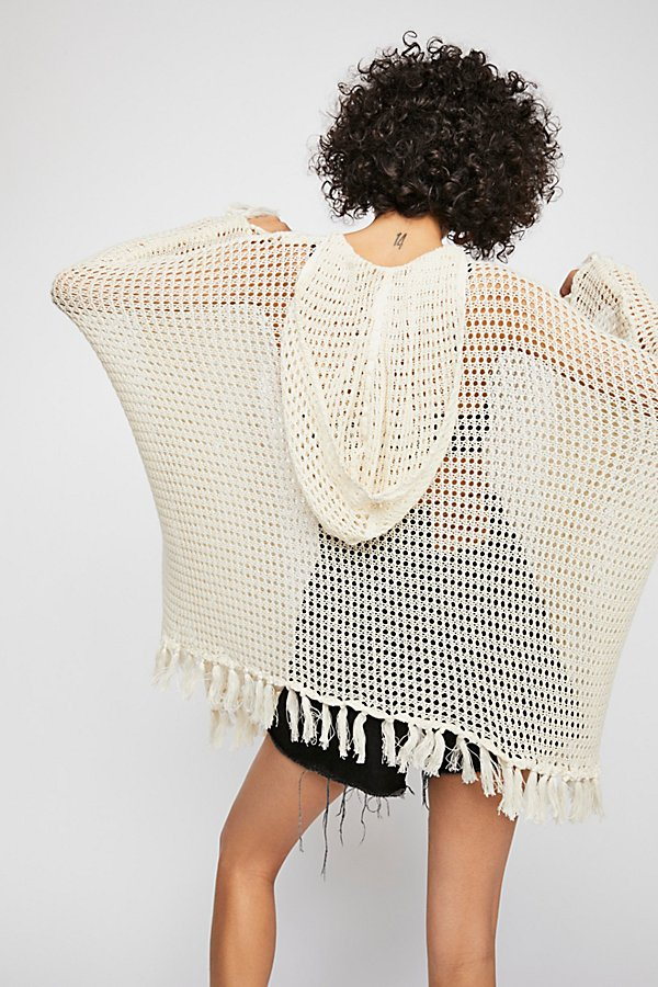 Slide View 2: Sand And Sea Crochet Poncho