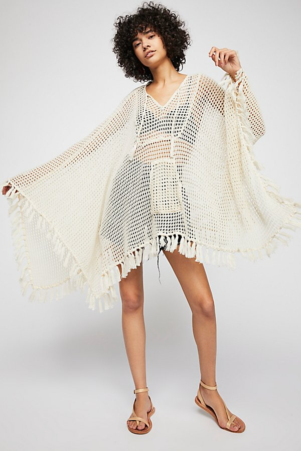 Slide View 4: Sand And Sea Crochet Poncho