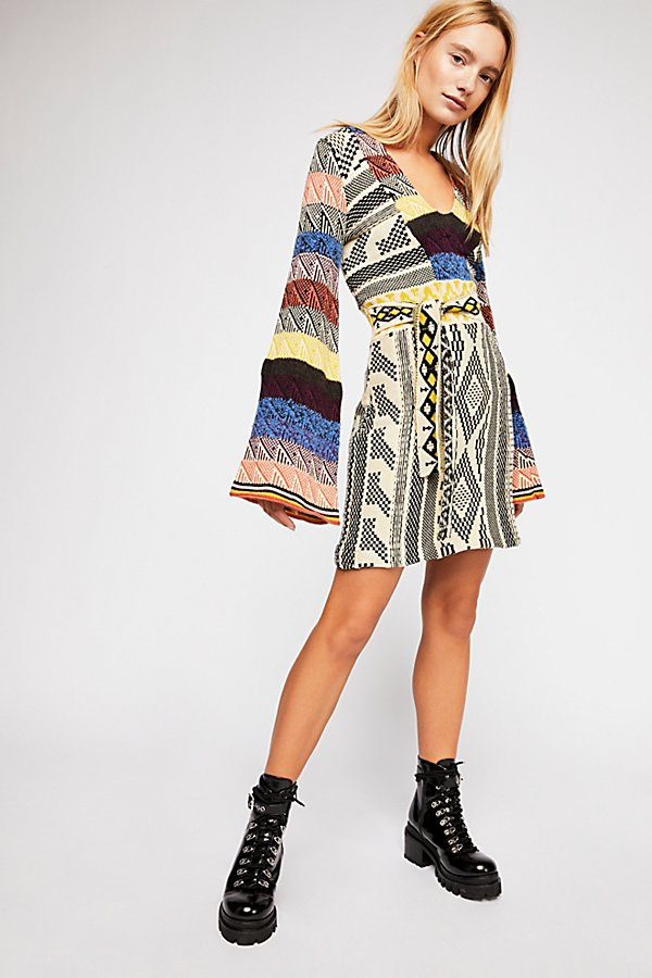 Slide View 1: Patchwork Sweater Dress