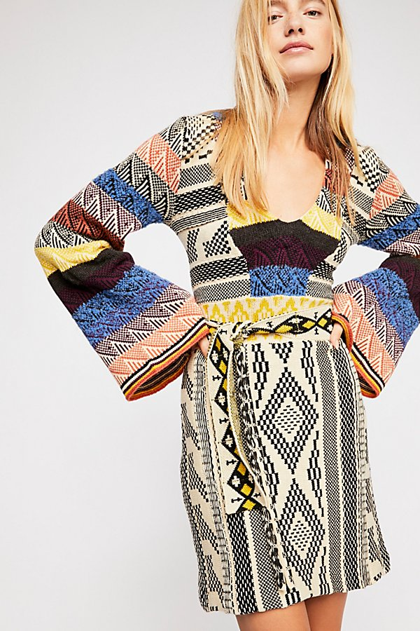 Slide View 2: Patchwork Sweater Dress