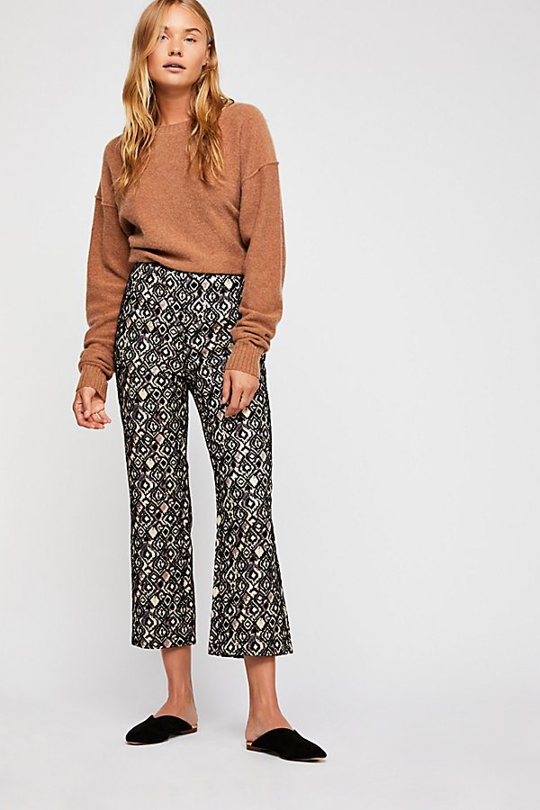 Slide View 1: Mod Crop Bootcut Trousers