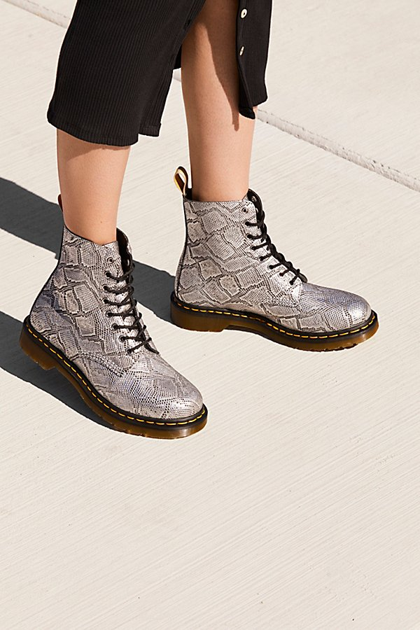 Slide View 1: Dr. Martens Pascal Silver Lace-Up Boot