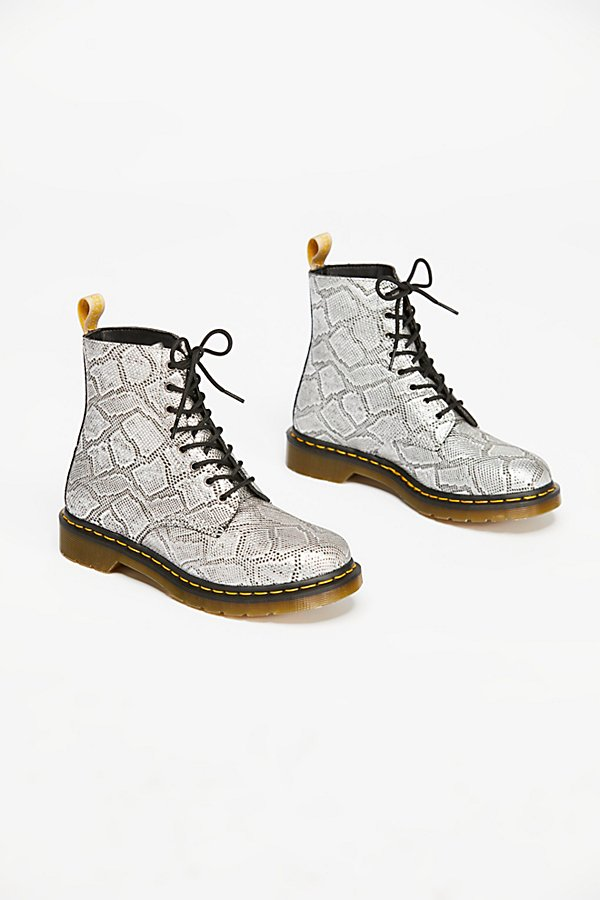 Slide View 2: Dr. Martens Pascal Silver Lace-Up Boot