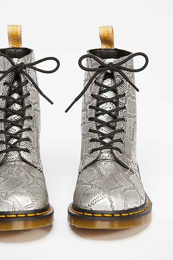 Slide View 3: Dr. Martens Pascal Silver Lace-Up Boot