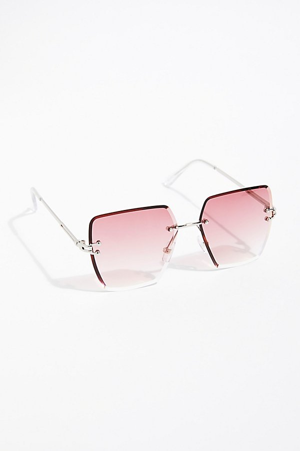 Slide View 2: Fleur Rimless Sunglasses