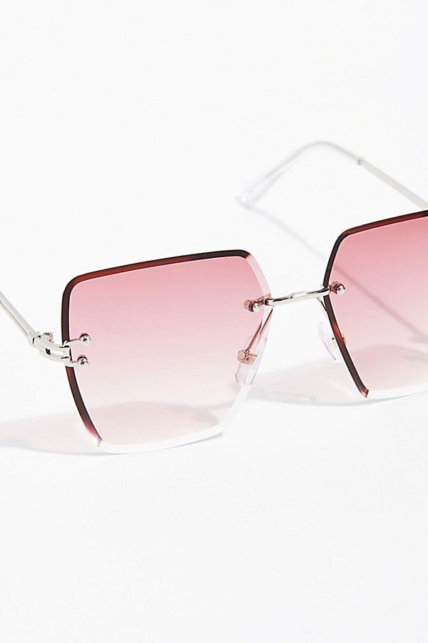 Slide View 3: Fleur Rimless Sunglasses