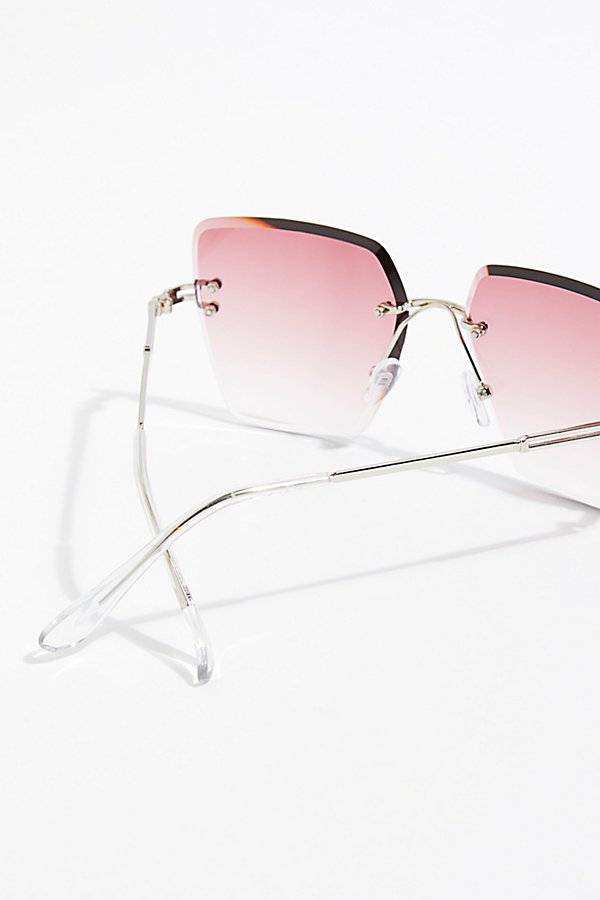 Slide View 4: Fleur Rimless Sunglasses