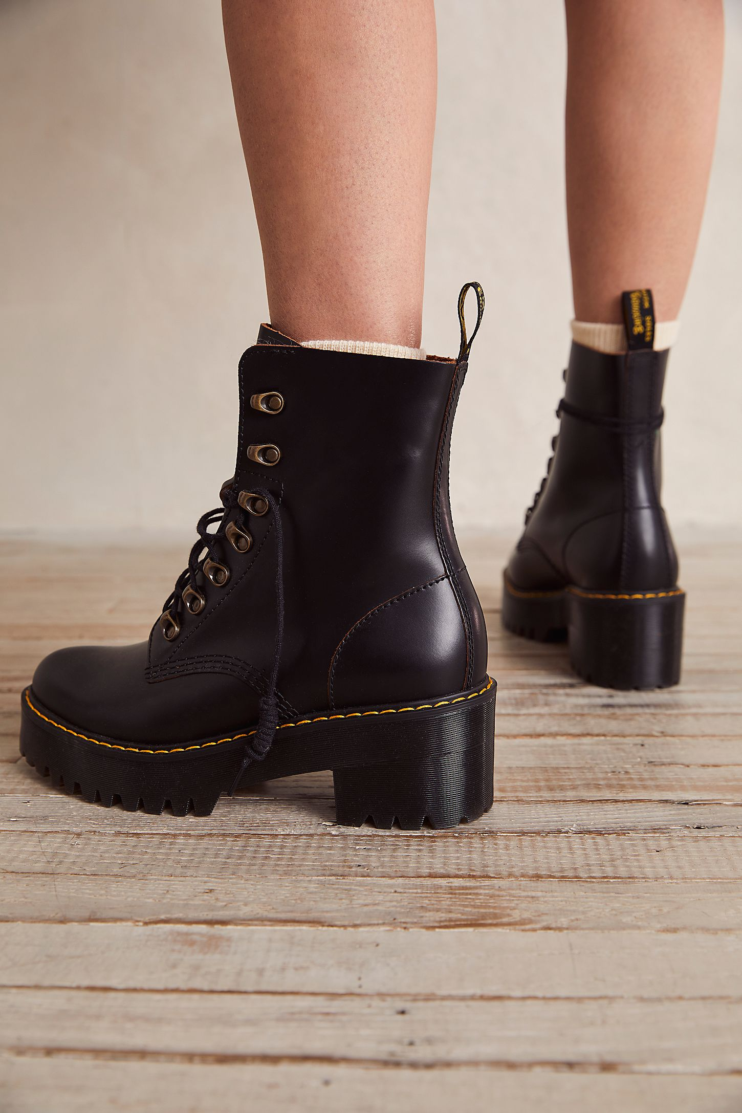 Dr Martens Leona Platform Ankle Boot Free People Boots Slide View 4