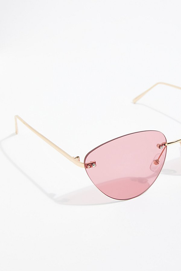 Slide View 3: Capri Rimless Sunglasses