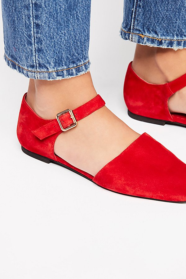 Slide View 3: Margaret Square Toe Flat