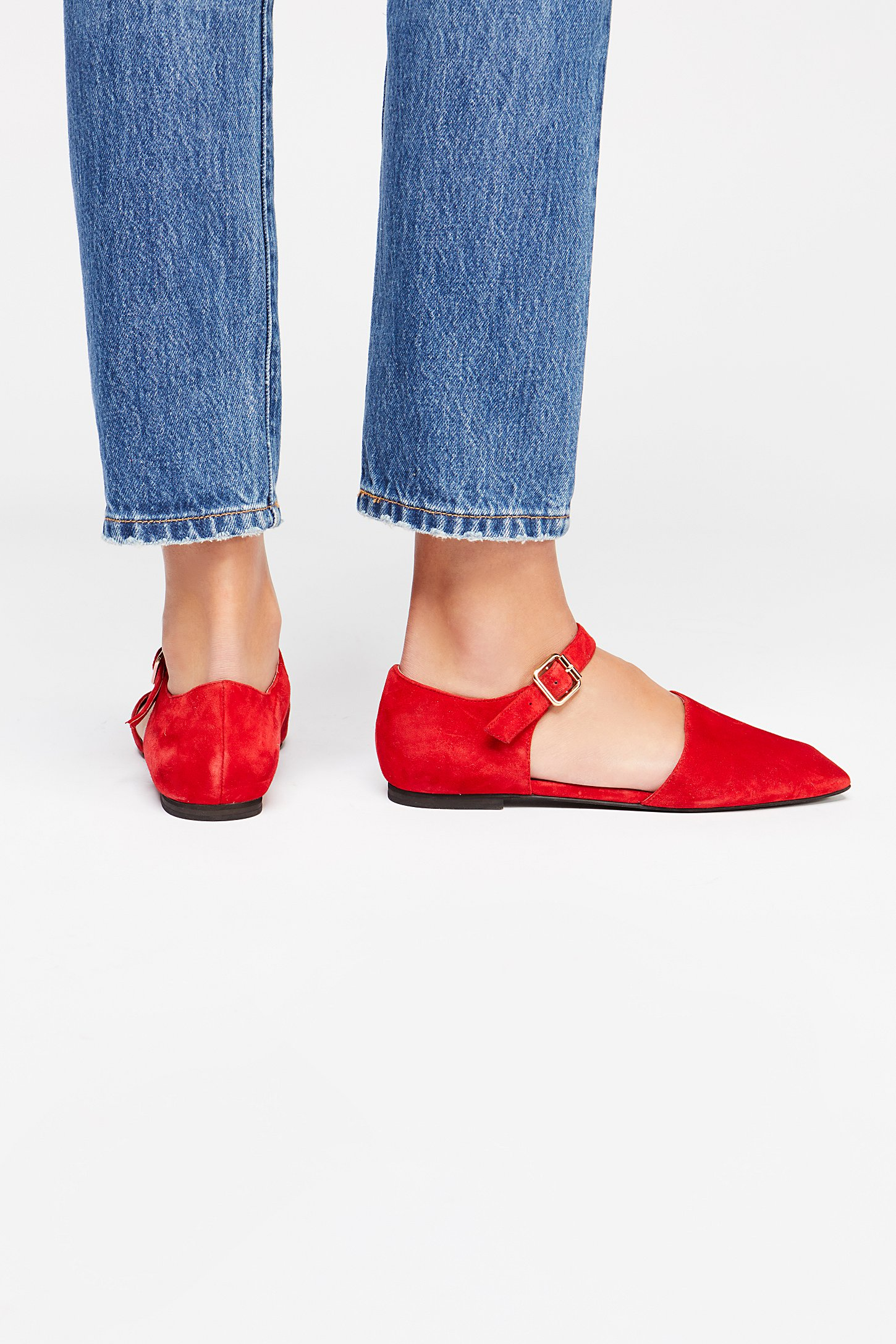 Margaret Square Toe Flat