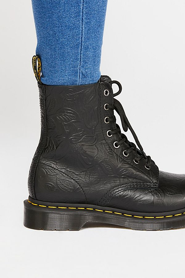 Slide View 3  Dr. Martens 1460 Pascal Floral Embossed Boot 155a955193c0