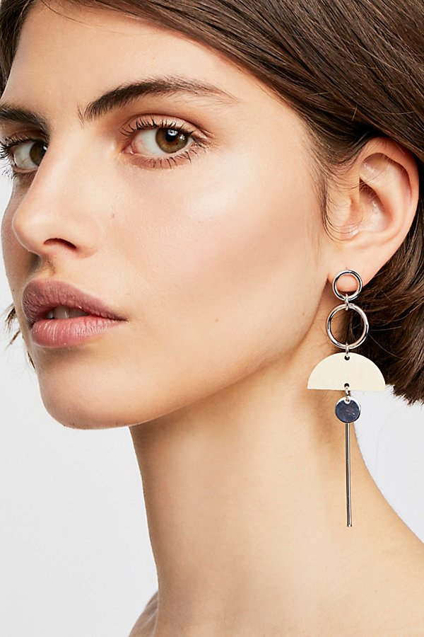 Slide View 1: Balancing Wood Single Earring