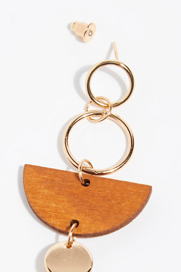 Slide View 3: Balancing Wood Single Earring