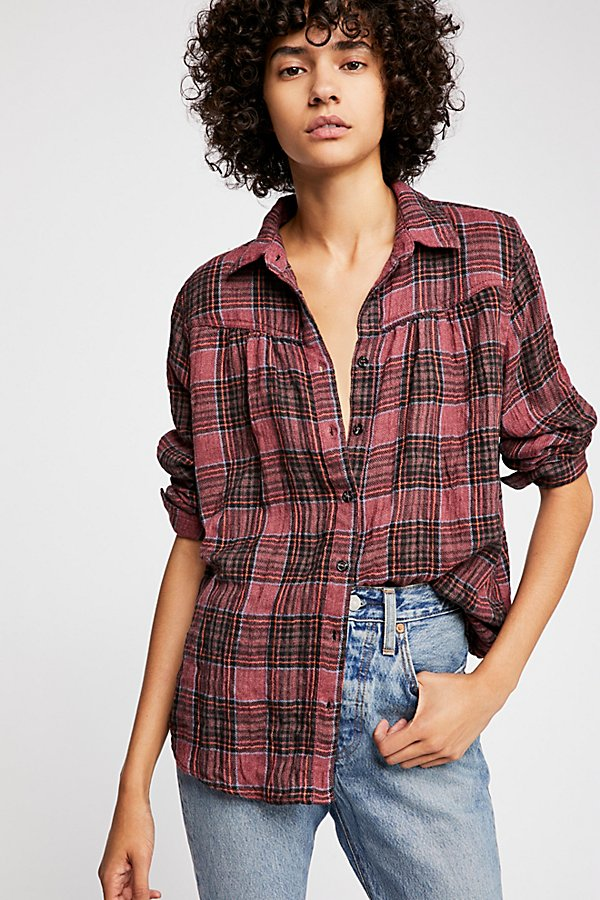 Slide View 1: Moon Holiday Plaid Buttondown