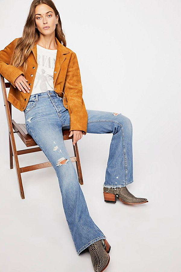 Slide View 6: Relaxed Heritage Flare Jeans