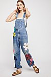 Thumbnail View 1: Rialto Jean Project Floral Painted Overalls