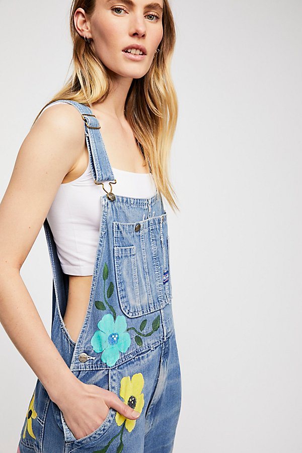 Slide View 3: Rialto Jean Project Floral Painted Overalls