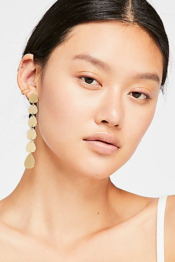 Raindrop Disc Earrings