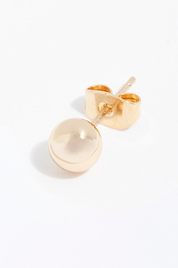 Slide View 2: Single Ball Stud Single Earring