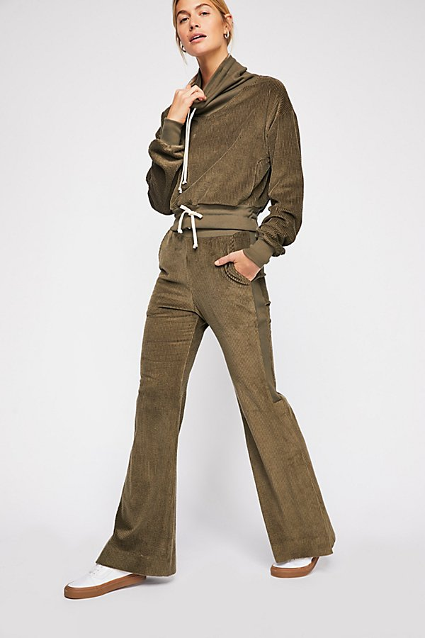 Slide View 1: Champlain Cord Wide-Leg Pants