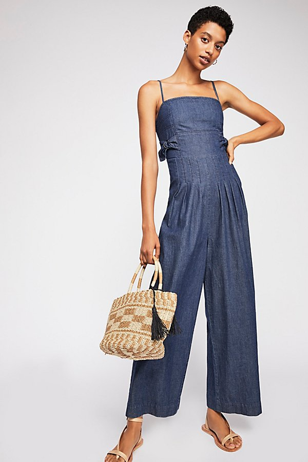 Slide View 1: Brittany Denim Jumpsuit
