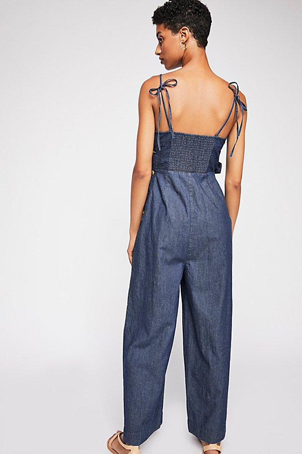 Slide View 2: Brittany Denim Jumpsuit