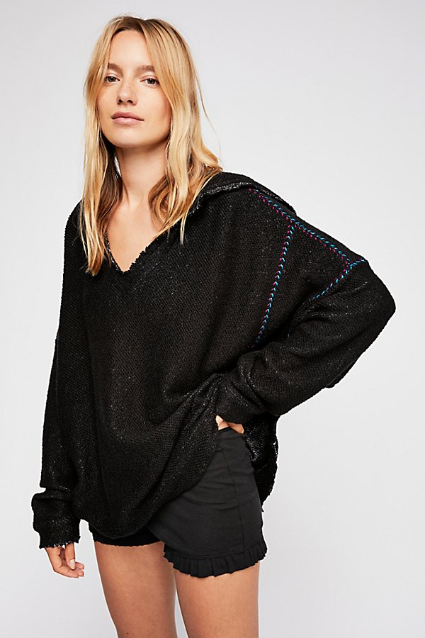 Slide View 1: Textured V-Neck Pullover