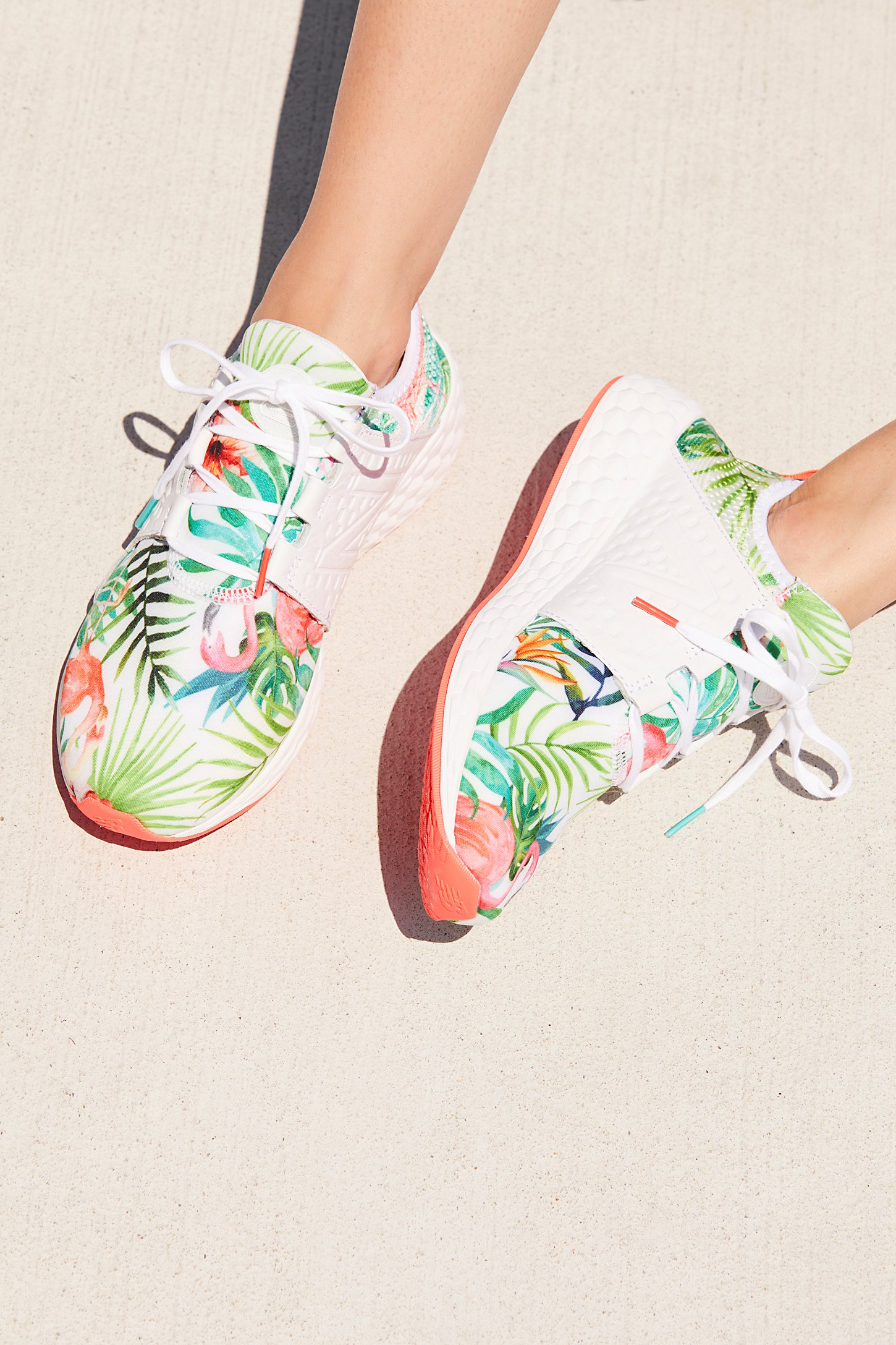 Loving these tropical print sneakers