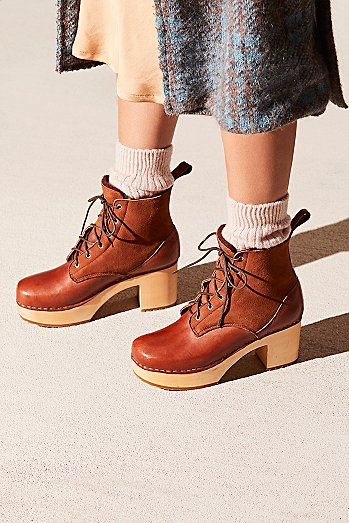 Hippie Lace Up Clog Boot