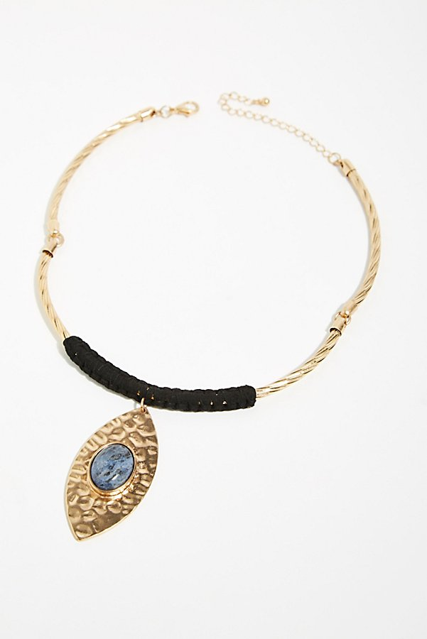 Slide View 2: Etched In Stone Collar Necklace