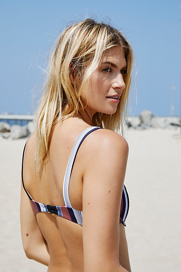 Slide View 2: Sawyer Striped Bikini Top